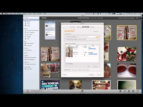Uploading photos from iPhoto to your Shutterfly Account