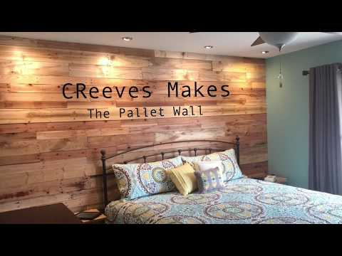 CReeves Makes The DIY Pallet Wood Wall ep007