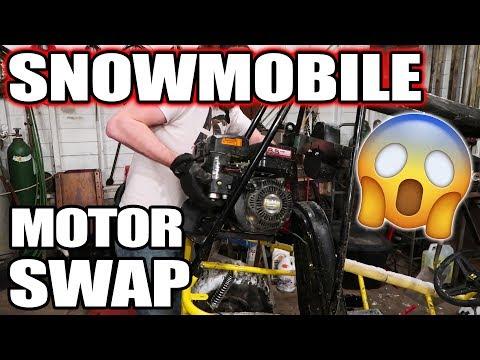 Snowmobile Motor On a Go Kart!!