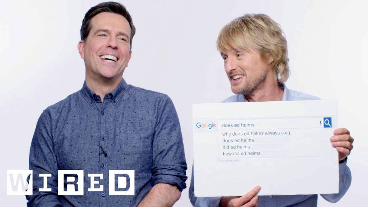 Owen Wilson & Ed Helms Answer the Web's Most Searched Questions   WIRED