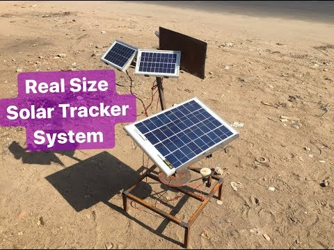 how to make solar tracking system | Real size