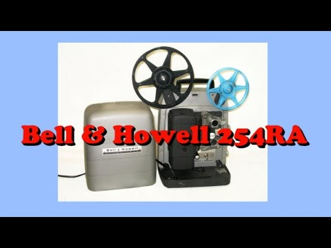 How to Thread a Bell & Howell 254RA Regular 8mm Projector Demo