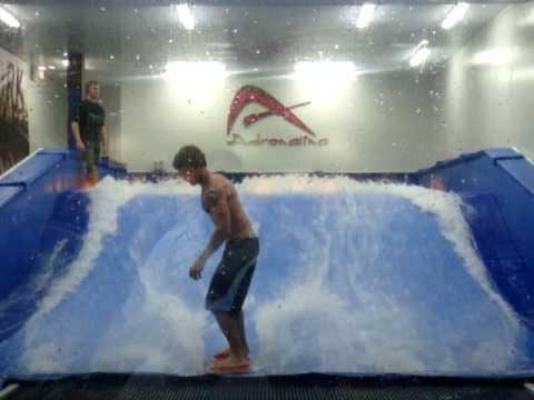 More Indoor Surfing at Adrenalina store, Tampa, FL