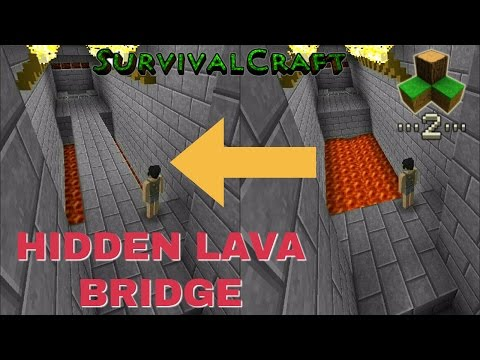 Survivalcraft 2 - HIDDEN LAVA BRIDGE | Survivalcraft Piston
