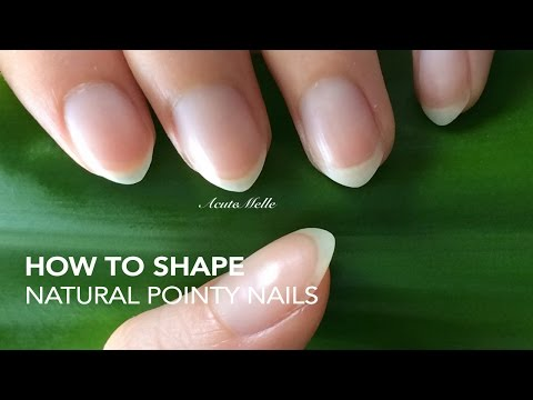 How to: Shape natural pointy nails
