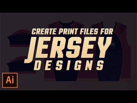 How to Create Print Files for Jersey Designs in Illustrator CC - 2017