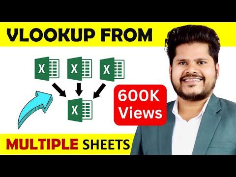 Vlookup in multiple sheets in excel    In Hindi - Very Easy