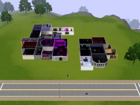 Sims 3 Gothic House and Gothic Guest House