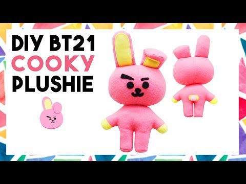 DIY BT21 COOKY PLUSHIE! (FREE TEMPLATE) [CREATIVE WEDNESDAY]