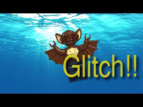 Man-Bat can Walk Underwater?!?!?!?!? LEGO Batman 2 GLITCH!!!!