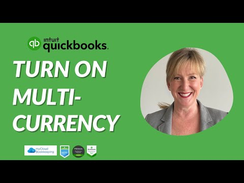 Turn On Multicurrency in QuickBooks Online