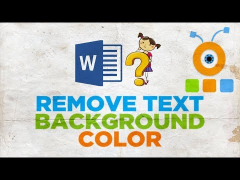 How to Remove Text Background Color in Word 2019   How to Remove a Fill in Word 2019