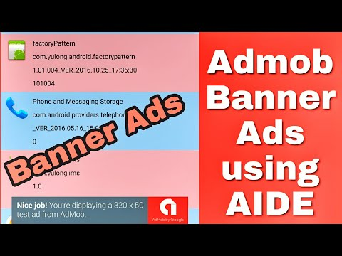 How to Integrate admob banner ads using AIDE?