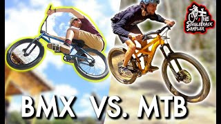 I TOOK MY BMX FRIEND MOUNTAIN BIKING // The Singletrack Sampler