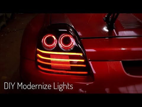 How to customize tail lights - diy - mr2 Spyder turbo