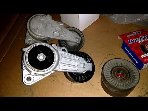 Change Tensioner Assembly and Idler Pulley on 2005 Hyundai Santa Fe