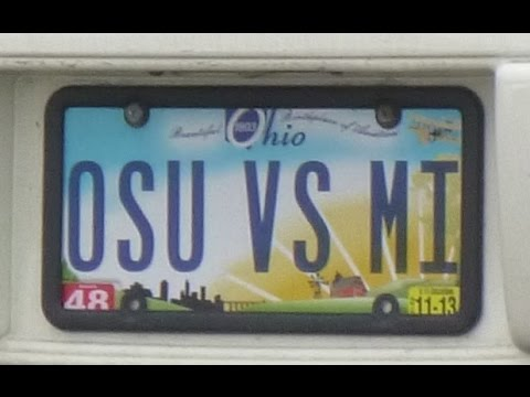License Plate Poem # 6  (Ohio State versus Michigan)