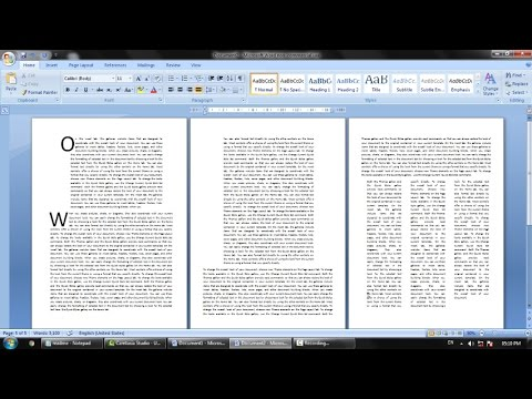 Multiple paragraph settings in a single page Microsoft Word Document (easy way MS Page Settings)