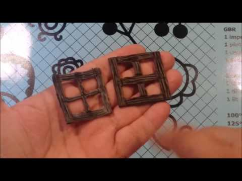 42 painting and assembling mini polymer clay windows for rpg´s or mixed media