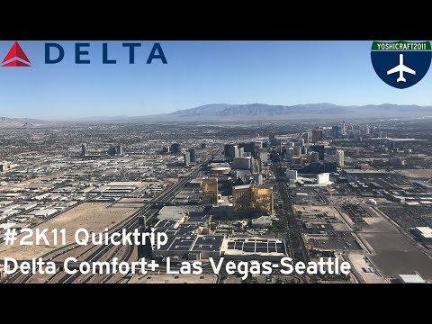 #2K11 Quicktrip - Delta Comfort+ from Las Vegas to Seattle (DL199, LAS-SEA)