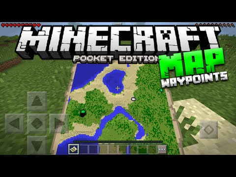 How To Get Waypoints on Maps in Minecraft PE - MCPE Map Checkpoint Trick (Pocket Edition)