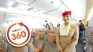 360 VIDEO: Inside the Emirates Boeing 777-300 Amazing Luxury Jet Airliner