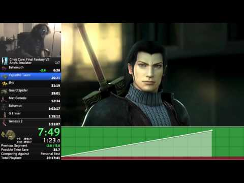 Crisis Core: Final Fantasy VII Any% New Game Emulator speedrun - 5:39:24