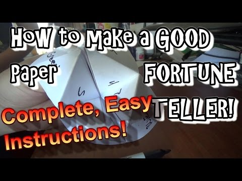 How To Make A Paper Fortune Teller (Chatterbox)