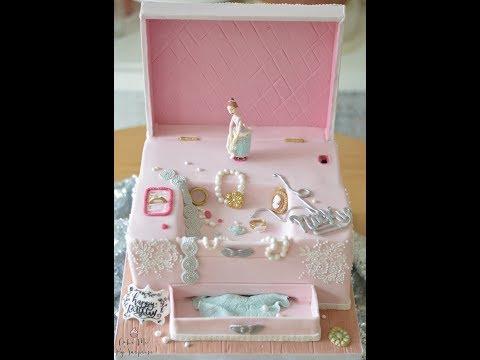 Working Wind Up Musical Box Ballerina Cake