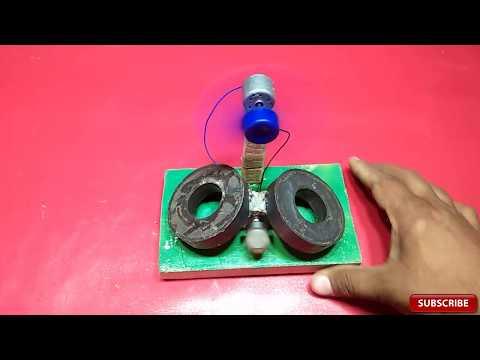 free energy generator magnet + motor used fan 100% free energy new technology
