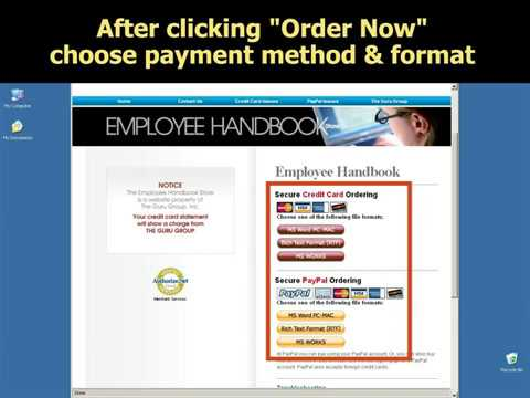 Employee Handbook Scavenger Hunt Microsoft Word Template