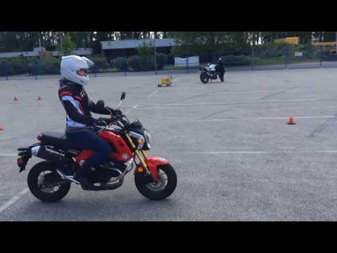 Motorcycle Skills Assessment Test