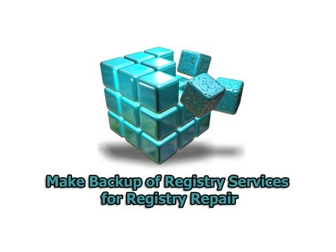 Make Backup of Registry Services for Registry Repair