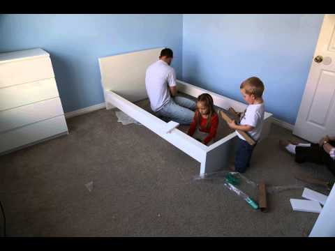 Time Lapse assembly of IKEA MALM bed frame