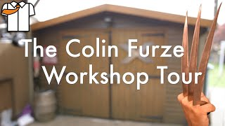 Colin Furze Workshop/Tools Tour & Wolverine Claws
