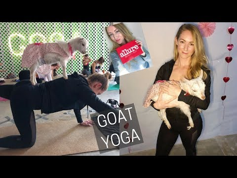GOAT YOGA | ALLURE BEAUTY BOX | WEEKLY WORKOUT VLOG 40