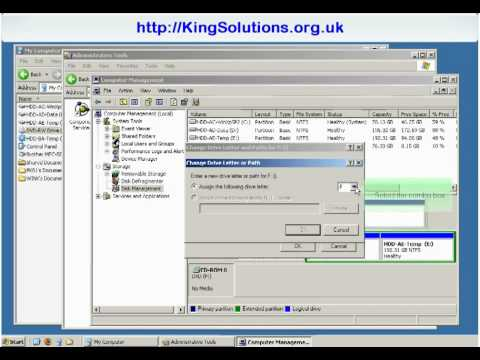 How to change drive letter assignments in Windows XP