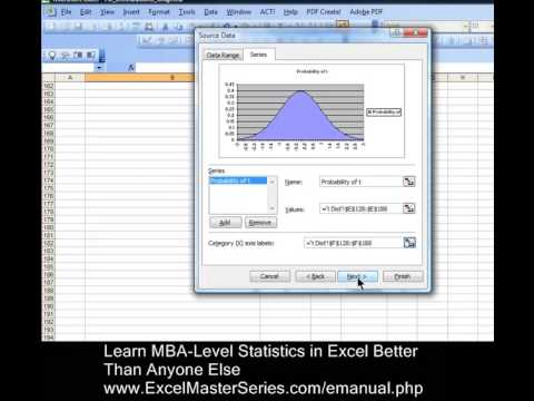 How You Can Create an Excel Graph of the t Distribution - PDF - with INTERACTIVITY !