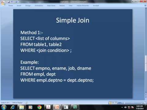 MYSQL: Joining two tables