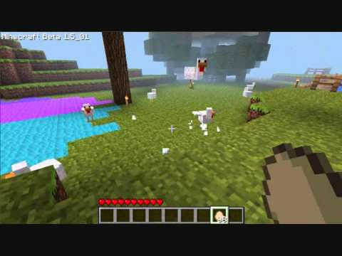 Hatching chickens out of eggs in minecraft ! - Minecraft Kris (1.7.4)