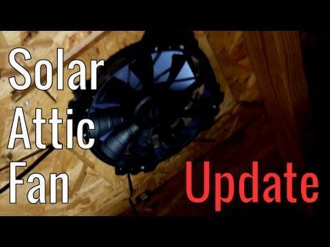 Solar Attic Fan Update