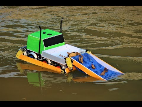 How To Make a Boat - Water Cleaning Boat - Boat