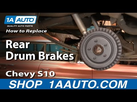 How To Install Replace Rear Drum Brakes Chevy S-10 GMC S-15 92-03 1AAuto.com