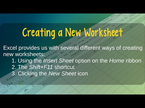 How to Create New Worksheets in Microsoft Excel