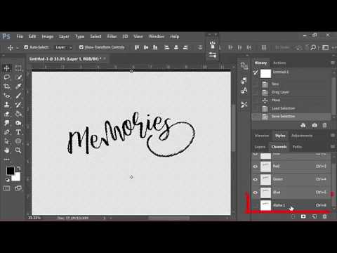 How to Digitally Paint Word Art in Photoshop