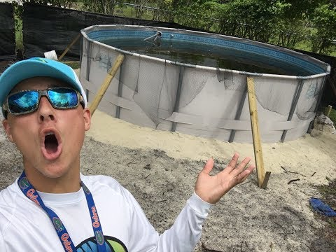 How to build A 16ft pool pond biggest on YouTube