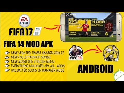 FIFA 17 on ANDROID APK+DATA | DOWNLOAD | FIFA 14 PATCHED VERSION