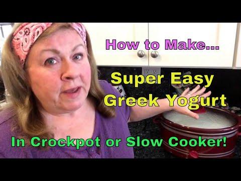 SUPER EASY GREEK YOGURT MADE IN CROCKPOT/SLOW COOKER!