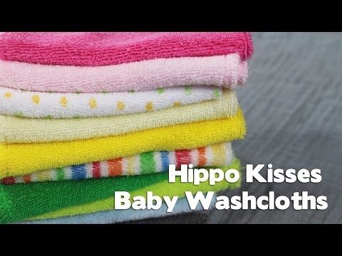 Hippo Kisses Baby Washcloths   Review & ClOSED Giveaway!