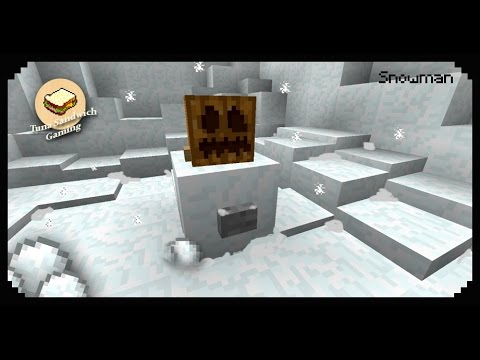 ✔ Minecraft: How to make a Snowman